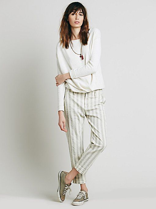 Wide Stripe Relaxed Jean