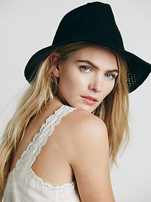 Perferated Felt Hat
