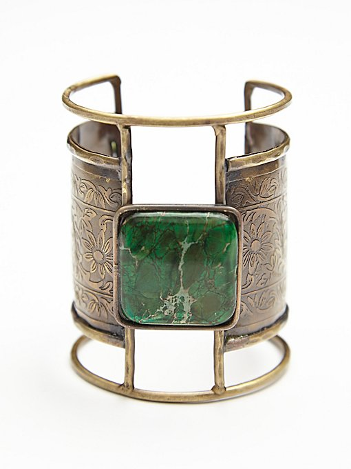Embossed Plate Cuff
