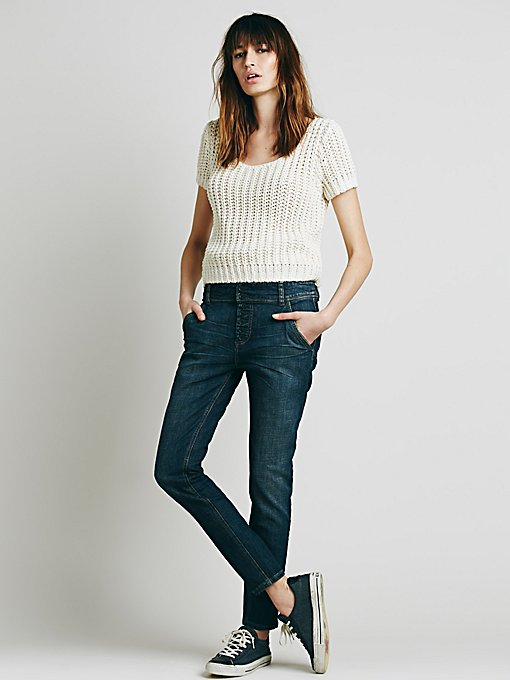 Buttonfront Low Slung Skinny