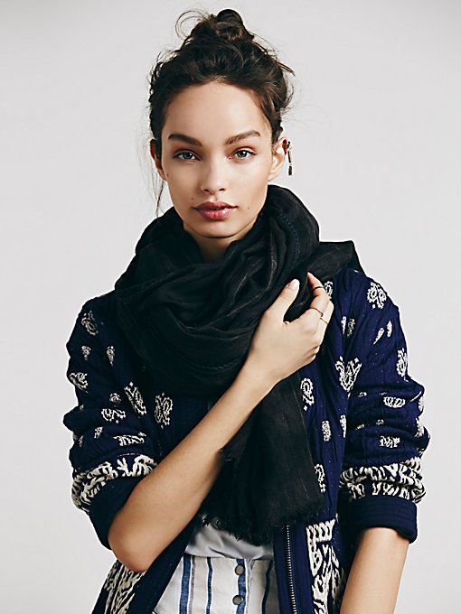 Mineral Wash Oversized Scarf