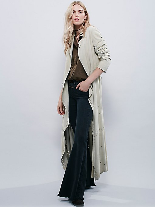 Laser Cut Suede Duster