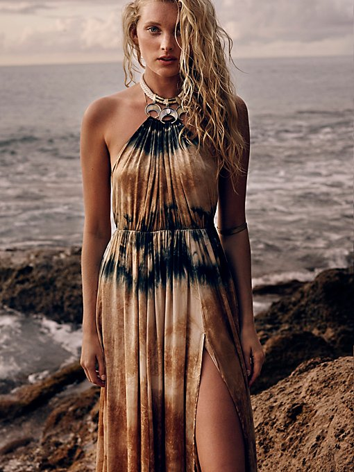 Love Me In Silk Tie Dye Maxi