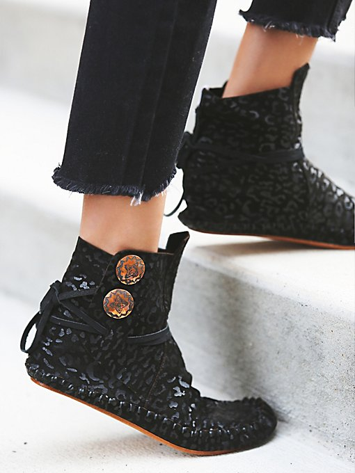 Leopard Teaspoon Ankle Moccasin