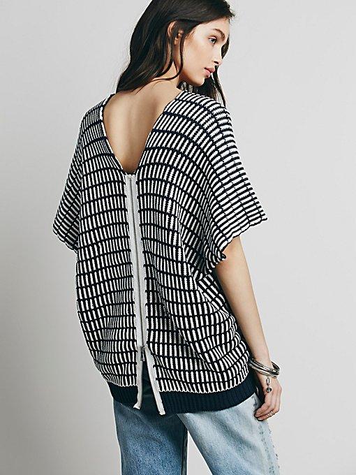 Stripe Boxy Short Sleeve Pullover
