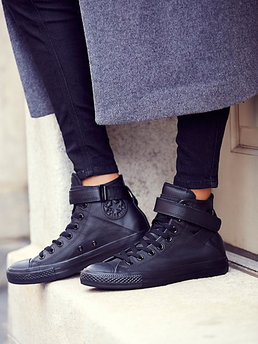 Mono Leather Hi Top Chuck