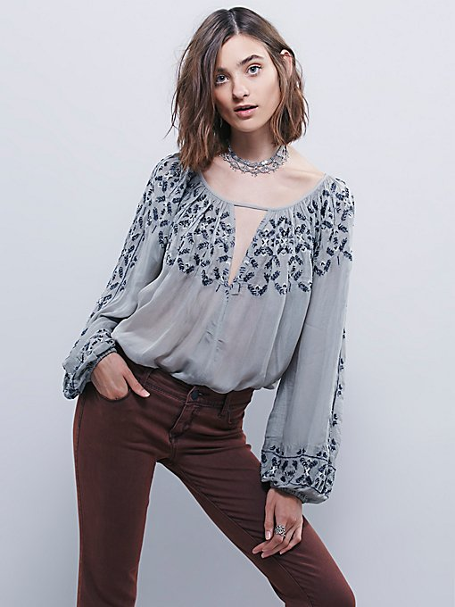 Embellished Border Top