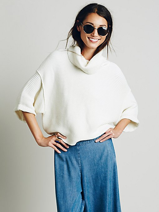 Boxy Turtleneck Pullover
