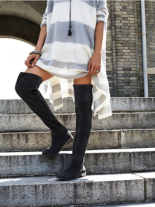 Carlisle Suede Over the Knee Boot