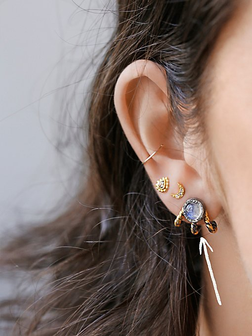 Lunar Cage Ear Jacket Earring