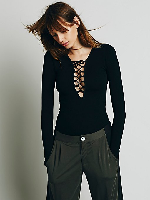 Lace Up Layering Top