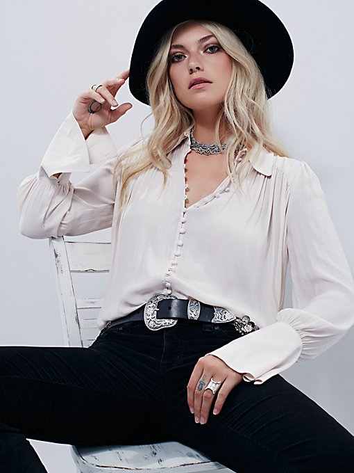 Modern Muse Tie Front Top
