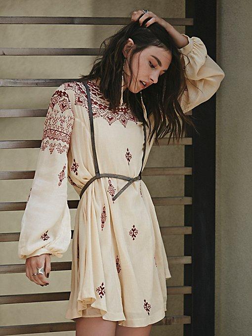 Natalya Embroidered Mini Dress