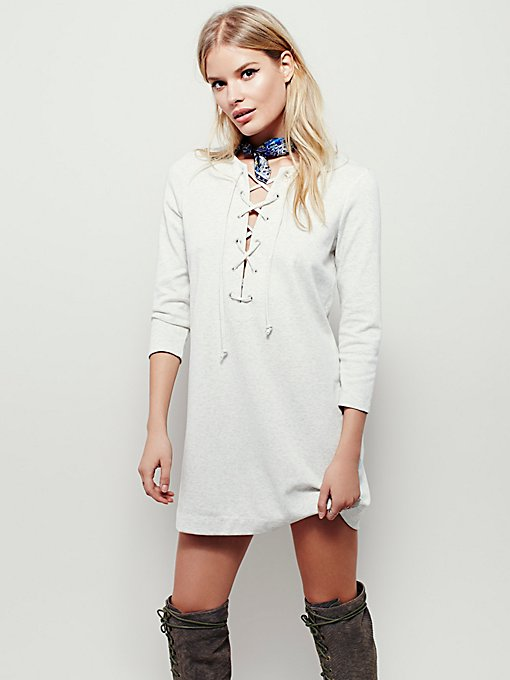 All Laced Up Shift Dress