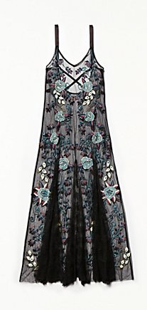 Embroidered Boquet Maxi Slip