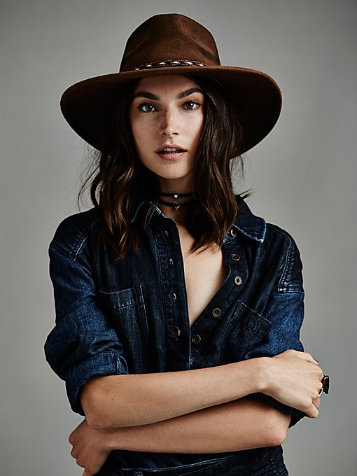 Roxy Dene Distressed Felt Hat