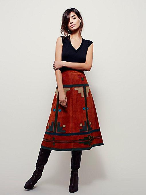 Modern Folk Midi Skirt
