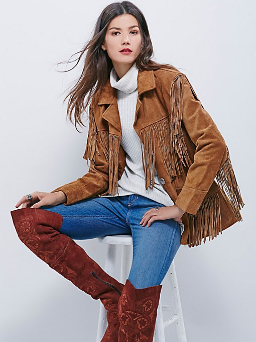 Western Tan Fringe Jacket