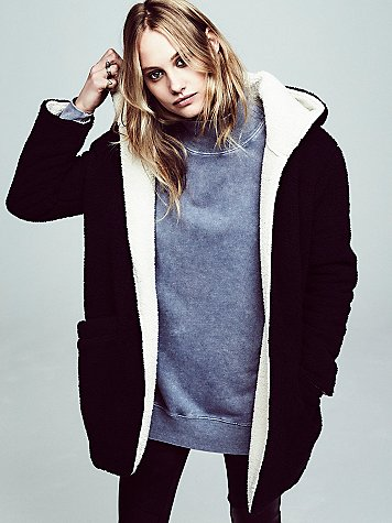 Free people reversible cozy hooded jacket at free people clothing