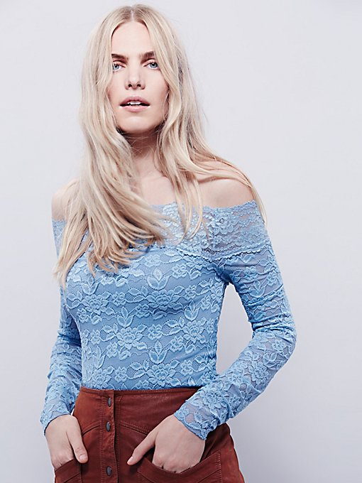 Barely There Lace Layering Top
