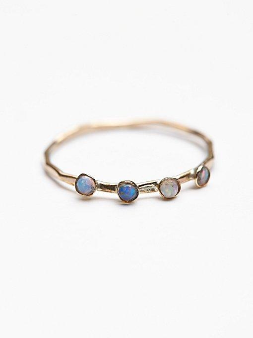 Crown Opal Delicate Ring