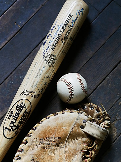 Vintage Negro League Legends Signed Bat