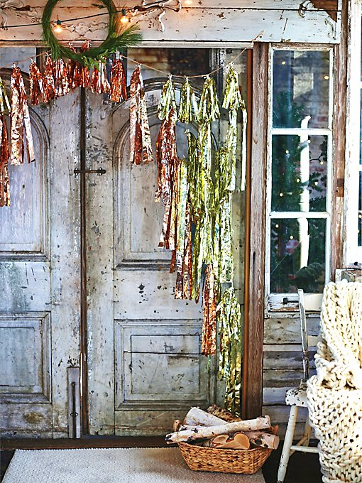 Tinsel Garland Curtain