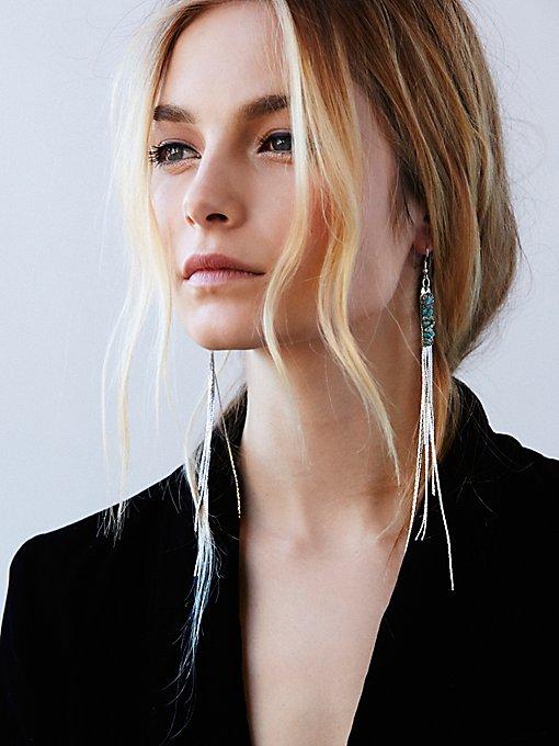 Snake Chain Shoulder Duster Earrings