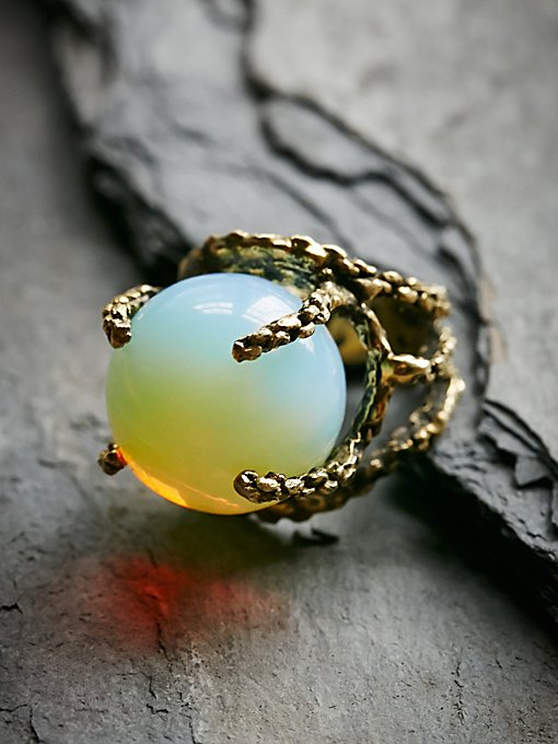 Opalite Sphere Ring
