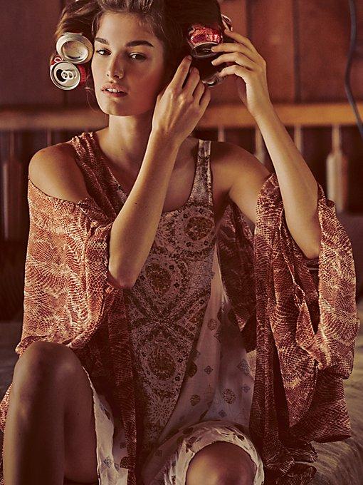 Bodega Printed Kimono