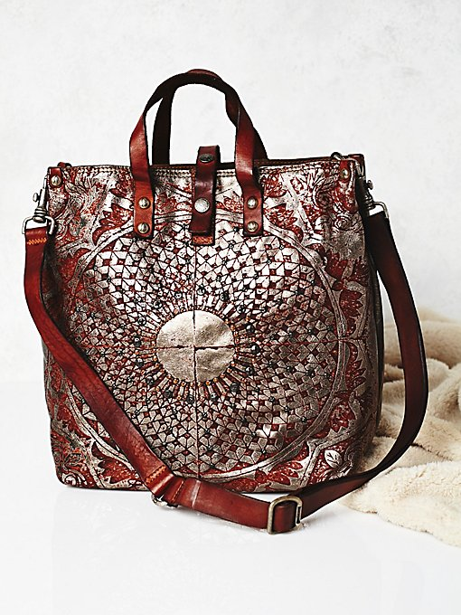 Moonshine Metallic Leather Tote