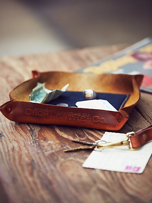 Leather & Denim Catchall Tray
