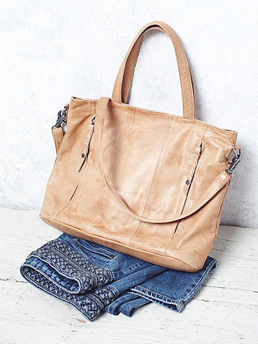Washed Rivers Leather Tote