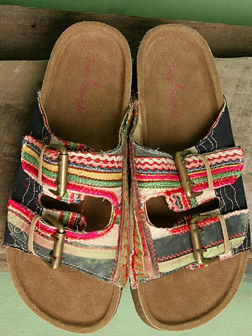 Ethnic Patch Double Strap Footbed