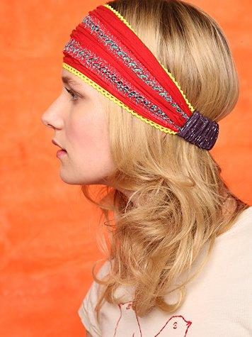 Red Runner Stitch Headband