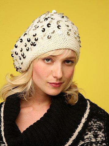 Sequin Crochet Beret
