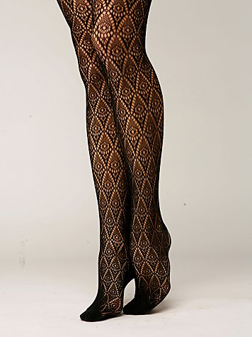 Diamond Crochet Tights