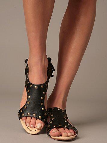 Stud Fringe Sandal