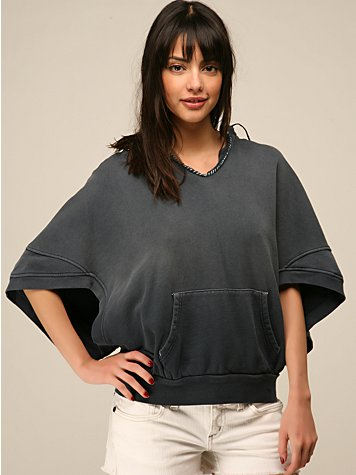Solid Pullover Poncho