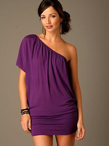 One Shoulder Banded Bottom Dress